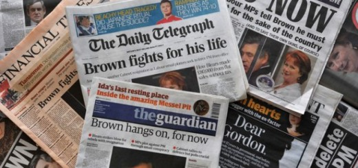 Front pages of a selection of British national newspapers featuring headlines about Prime Minister Gordon Brown are pictured in London, on June 4, 2009. Voting began Thursday in Britain for European parliament and local authority elections, with Prime Minister Gordon Brown's Labour Party government braced for a battering. Brown's Labour government has taken the brunt of public anger over revelations about lawmakers' creative expenses claims. Opinion polls suggest Labour could finish in third place. Brown is struggling to assert his authority amid resignations and an alleged backbench plot to oust him. Four government ministers, including two members of his Cabinet, have quit in the past two days. AFP PHOTO/STRINGER (Photo credit should read STRINGER/AFP/Getty Images)