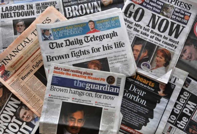newspaper v s television