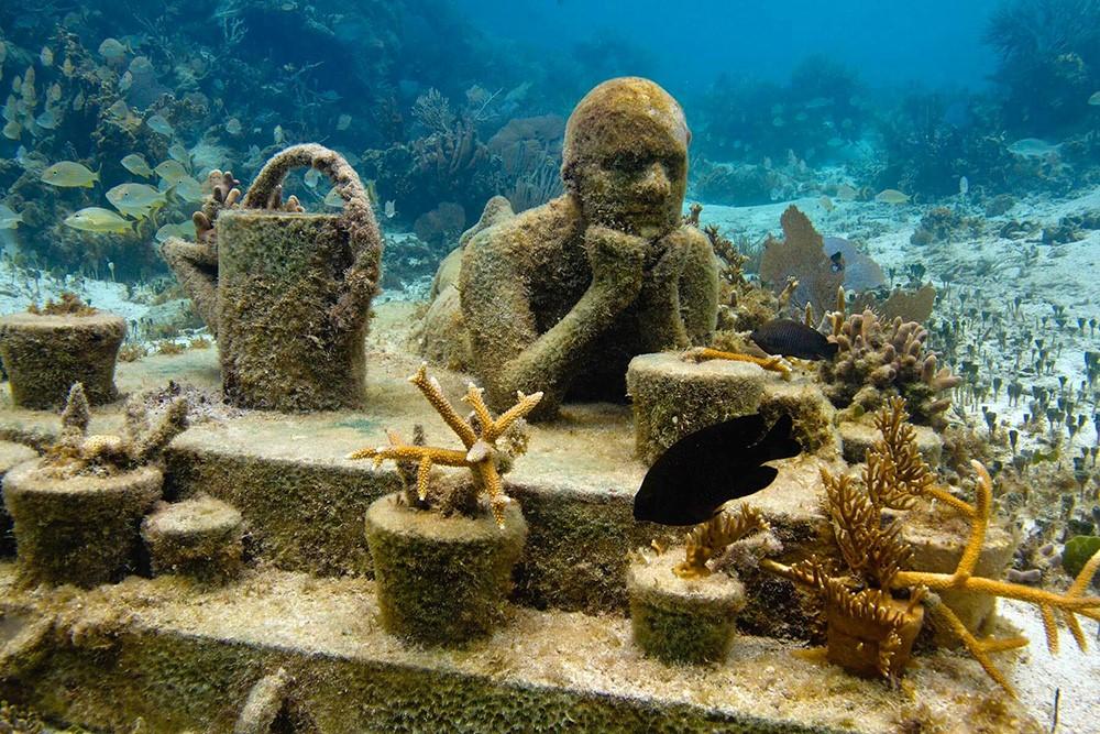 Морская фигура, замри: необычные подводные музеи